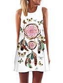 hesapli Mini Elbiseler-Kadın's Kılıf Elbise - Geometrik Diz üstü