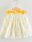 tanie Sukienki dla niemowląt-Dziecko Dla dziewczynek Podstawowy Owoc Bez rękawów Nad kolano Bawełna Sukienka Rumiany róż