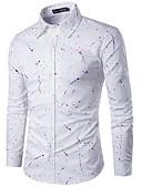abordables Camisas de Hombre-Hombre Estampado Camisa A Lunares Rosa XL