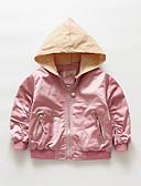 levne Dětské bundičky a kabátky-Dítě Dívčí Aktivní / Punk & Gothic Jednobarevné Výšivka Standardní Bundičky a kabáty Rubínově červená / Toddler