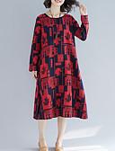 preiswerte Bedruckte Kleider-Damen Retro Grundlegend Etuikleid Kleid - Druck, Geometrisch Midi