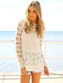 cheap Women-Women's Slim Blouse - Solid Colored White L