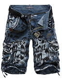 cheap Men's Pants & Shorts-Men's Shorts Pants - Camo / Camouflage Yellow