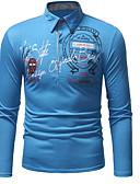 billige T-shirts og undertrøjer til herrer-Krave Herre - Geometrisk EU / US størrelse Polo Hvid L
