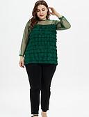 economico Taglie forti-T-shirt Per donna Collage, Tinta unita Grigio XL