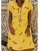 povoljno Ženske haljine-Žene Shift Haljina V izrez Do koljena