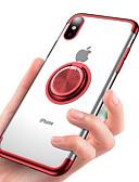 hesapli iPhone Kılıfları-Pouzdro Uyumluluk Apple iPhone XS / iPhone XR / iPhone XS Max Kaplama / Yüzüklü Tutacak / Şeffaf Arka Kapak Solid Yumuşak TPU