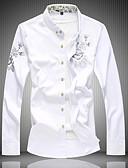 povoljno Muške košulje-Veći konfekcijski brojevi Majica Muškarci Geometrijski oblici Klasični ovratnik Slim Crn