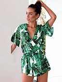 cheap Prom Dresses-Maxi Dress Jumpsuits V Wire Short / Mini Jersey Dress with Sash / Ribbon by LAN TING Express