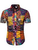 billige T-shirts og undertrøjer til herrer-Herre - Geometrisk Trykt mønster T-shirt Orange XXXL