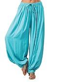 povoljno Ženski jednodijelni kostimi-Žene Širok kroj ženske sportske hlače Hlače - Jednobojni Ogroman Pamuk Crn Red Svjetloplav XL XXL XXXL