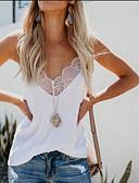 economico T-Shirt da donna-T-shirt Per donna Collage, Tinta unita Bianco L