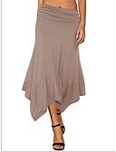 cheap Women's Skirts-Women's Basic Asymmetrical Swing Skirts - Solid Colored Knitting / Patchwork Black Navy Blue Khaki S M L