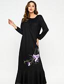 cheap Arabian Clothing-Women's Swing Dress Black L XL XXL
