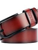 Χαμηλού Κόστους Men's Belt-Ανδρικά Μονόχρωμο Βίντατζ / Βασικό Ζώνη μέσης