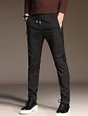 ราคาถูก แจ็กเก็ต &เสื้อโค้ทผู้ชาย-สำหรับผู้ชาย พื้นฐาน ขนาดพิเศษ สูท กางเกง - สีพื้น สีน้ำเงิน สีดำ สีเทา 34 36 38