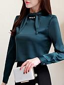 hesapli Gömlek-Kadın's Bluz Kırk Yama, Solid Beyaz