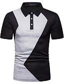 """זול חולצות פולו לגברים-אחיד עסקים האיחוד האירופי / ארה""""ב גודל Polo - בגדי ריקוד גברים שחור / שרוולים קצרים"""