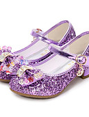 povoljno Haljine za male djeveruše-Djevojčice Udobne cipele / Sitni pete za mlade Sintetika Cipele na petu Dijete (9m-4ys) / Mala djeca (4-7s) / Velika djeca (7 godina +) purpurna boja / Plava / Pink Jesen