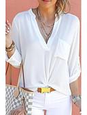 cheap Panties-Women's Plus Size Shirt - Solid Colored V Neck Wine XXXL