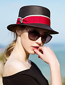halpa Naisten hatut-Naisten Aktiivinen Kalastajanhattu-Color Block Olki Kevät Kesä Musta