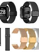 halpa Smartwatch-nauhat-Watch Band varten Fitbit Versa / Fitbit Versa Lite Fitbit Milanolainen Metalli / Ruostumaton teräs Rannehihna
