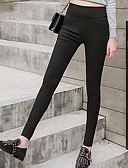 cheap Women-Women's Basic Chinos Pants - Solid Colored Black