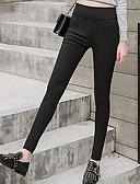 levne Halenka-Dámské Základní Kalhoty chinos Kalhoty - Jednobarevné Černá