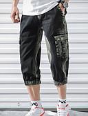 hesapli Tişört-Erkek Sokak Şıklığı Chinos Pantolon - Desen Havuz Siyah 32 34 36