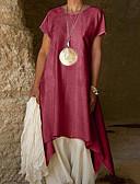 abordables Vestidos Maxi-Mujer Básico Vaina Vestido Un Color Asimétrico