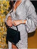 זול שמלות NYE-צווארון V מעל הברך שמלה גזרת A בגדי ריקוד נשים