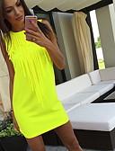 hesapli Mini Elbiseler-Kadın's İnce Gömlek Elbise Askılı Diz-boyu