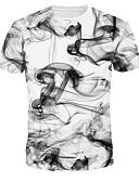 זול טישרטים לגופיות לגברים-צווארון עגול רזה טישרט - בגדי ריקוד גברים לבן