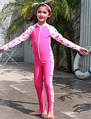 halpa Tyttöjen uima-asut-JIAAO Poikien Tyttöjen Skin-tyyppinen märkäpuku Sukelluspuvut Nopea kuivuminen Pitkähihainen Etuvetoketju - Uinti Sukellus Vesiurheilu Patchwork Syksy Kevät Kesä / Erittäin elastinen / Lasten