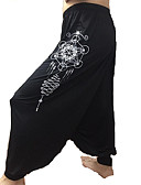 cheap Women's Pants-Women's Street chic / Exaggerated Harem / Bootcut Pants - Pattern / Patterned / Geometric Pattern Black