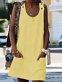abordables Vestidos de Mujer-Mujer Básico Chic de Calle Recto Vestido Un Color Sobre la rodilla