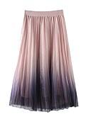 preiswerte Damen Röcke-Maxi-Swing-Röcke für Damen - Farbblock