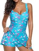 ieftine One-piece swimsuits-Pentru femei Roz Îmbujorat Gri Mov O Piesă Costume de Baie - Animal XXXL XXXXL XXXXXL Roz Îmbujorat