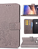 hesapli Cep Telefonu Kılıfları-Pouzdro Uyumluluk Xiaomi Xiaomi Redmi Note 5 Pro / Xiaomi Redmi Note 6 / Xiaomi Redmi 6 Pro Kart Tutucu / Satandlı / Manyetik Tam Kaplama Kılıf Çiçek Sert PU Deri / Xiaomi Redmi Note 4X