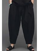 abordables Camisetas y Tops de Hombre-Hombre Tejido Oriental Chinos Pantalones - Un Color Negro