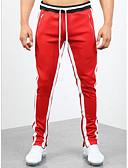 hesapli Erkek Ceketleri ve Kabanları-Erkek Sportif Chinos Pantolon - Çizgili Siyah Beyaz YAKUT M L XL
