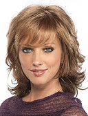 cheap Panties-Synthetic Wig / Bangs Curly / Loose Curl Style Free Part Capless Wig Brown Light Brown Synthetic Hair 18 inch Women's Fashionable Design / Women / Sexy Lady Brown Wig Medium Length Natural Wigs