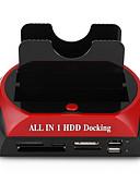 abordables Vestidos de Dama de Honor-LITBest USB 3.0 a IDE SATA Estación de acoplamiento de disco duro externo Con lector de tarjetas (s) / Instalación sin herramientas / con puertos USB / con adaptador de alimentación de CA externo