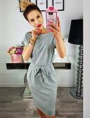 voordelige Damesjurken-dames midi slim t-shirt jurk wijn legergroen licht grijs s m l xl