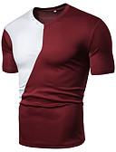 billige T-shirts og undertrøjer til herrer-Herre - Farveblok Patchwork T-shirt Sort XL