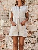 זול סרבלים ואוברולים לנשים-XL XXL XXXL אחיד, Rompers רגל רחבה כתום אפור צהוב בסיסי בגדי ריקוד נשים