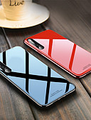 זול מגנים לטלפון-מגן עבור Huawei Huawei P20 / Huawei P20 Pro / Huawei P20 lite עמיד בזעזועים כיסוי אחורי אחיד קשיח TPU / זכוכית משוריינת / P10 Plus / P10