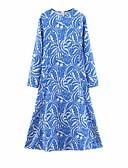 abordables Vestidos de Mujer-Mujer Elegante Línea A Vestido - Estampado, Geométrico Midi
