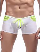 abordables Ropa Interior y Calcetines de Hombre-Hombre Normal Panti Modelador - Malla 1 Pieza Baja cintura Morado Fucsia Bleu Ciel M L XL