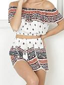 ieftine Salopete Damă-Pentru femei Șic Stradă Bluză - Geometric, Pantaloni Imprimeu